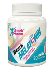 Фото Melatonin, (Мелатонін) 120 капс, Stark Pharm